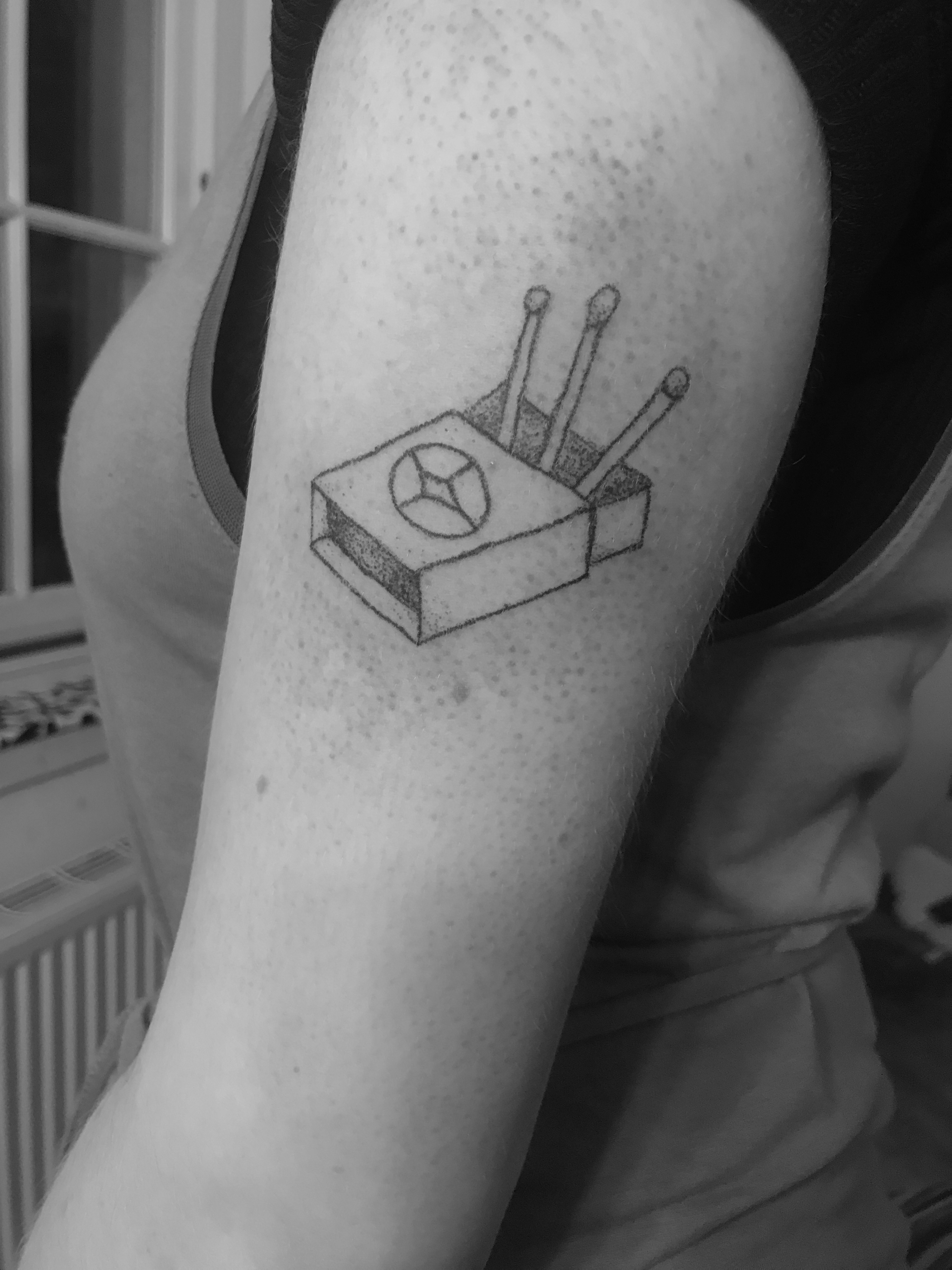 matchbox Your Place To Space tattoo work by Alexandra Godwin