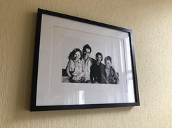 framed family portrait black and white mixed media by alexandra godwin your place to space
