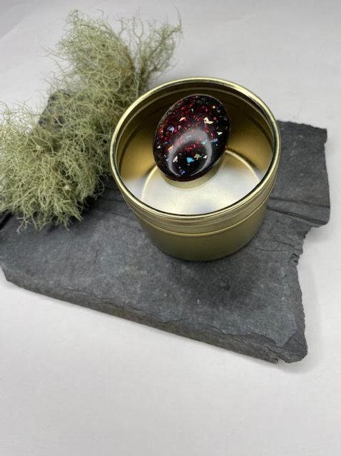 Gem Tin: Large Opal -Ruby Slippers Obsidian
