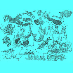 mermaid flash sheet by alexandra godwin your place to space