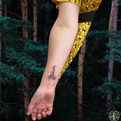 wrist srpig lavender handpoke your place to space alexandra godwin axel handfolk