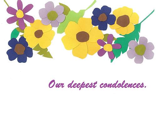Condolence/Sympathy Card (One Card - Choose Design)