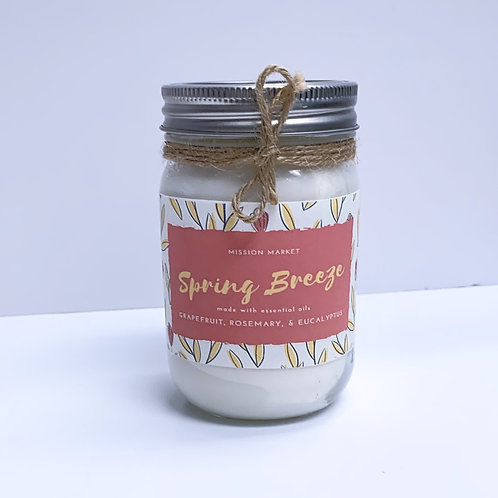 Spring Breeze Handmade Scented Candle