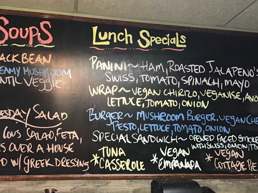 WEDNESDAY'S LUNCH SPECIALS.