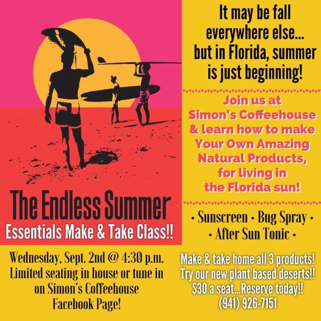 The Endless Summer Essential Oils Class Flyer