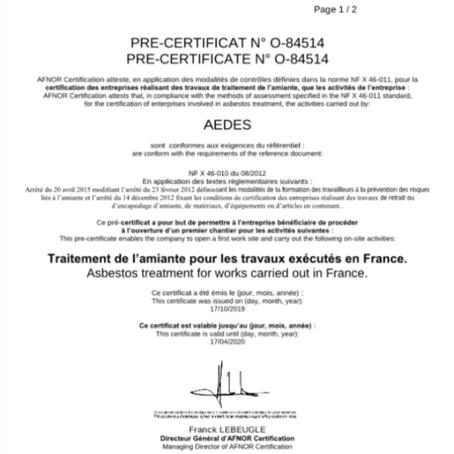 [Actu] AEDES pré-certifié SS3 !
