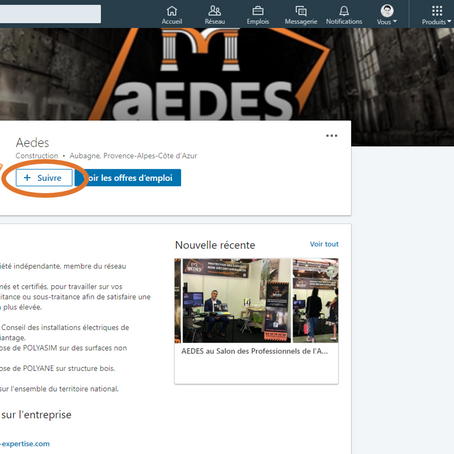 Nouveau ! Retrouvez AEDES sur LinkedIn avec sa nouvelle page entreprise !