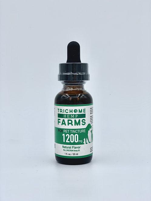 Pet Tincture 1200mg CBD Trichome Farms