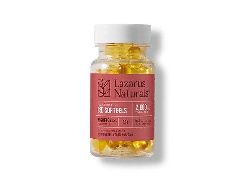 Lazarus Naturals 50mg Full Spectrum Softgels