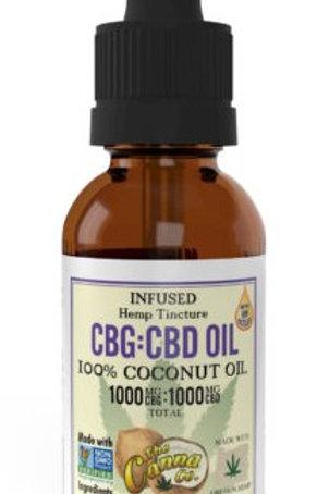 Canna Co. CBD/CBG 1000g 1:1 Tincture