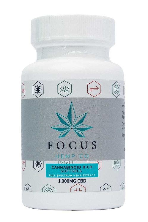 Focus Hemp Co 1000mg Softgels