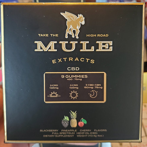 Mule Extracts  Variety 9 Pack Full Spectrum Gummies