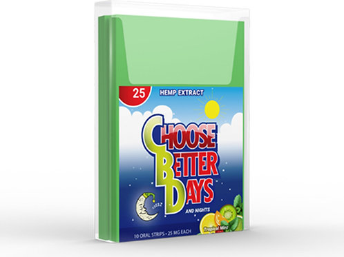 Choose Better Days 25mg Oral Strips