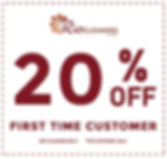 20 Special Discount First Time Customers