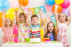 Kids celebraing birthday party