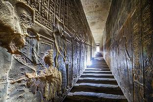 DENDERA TEMPLE, QENA, EGYPT: Corridors w