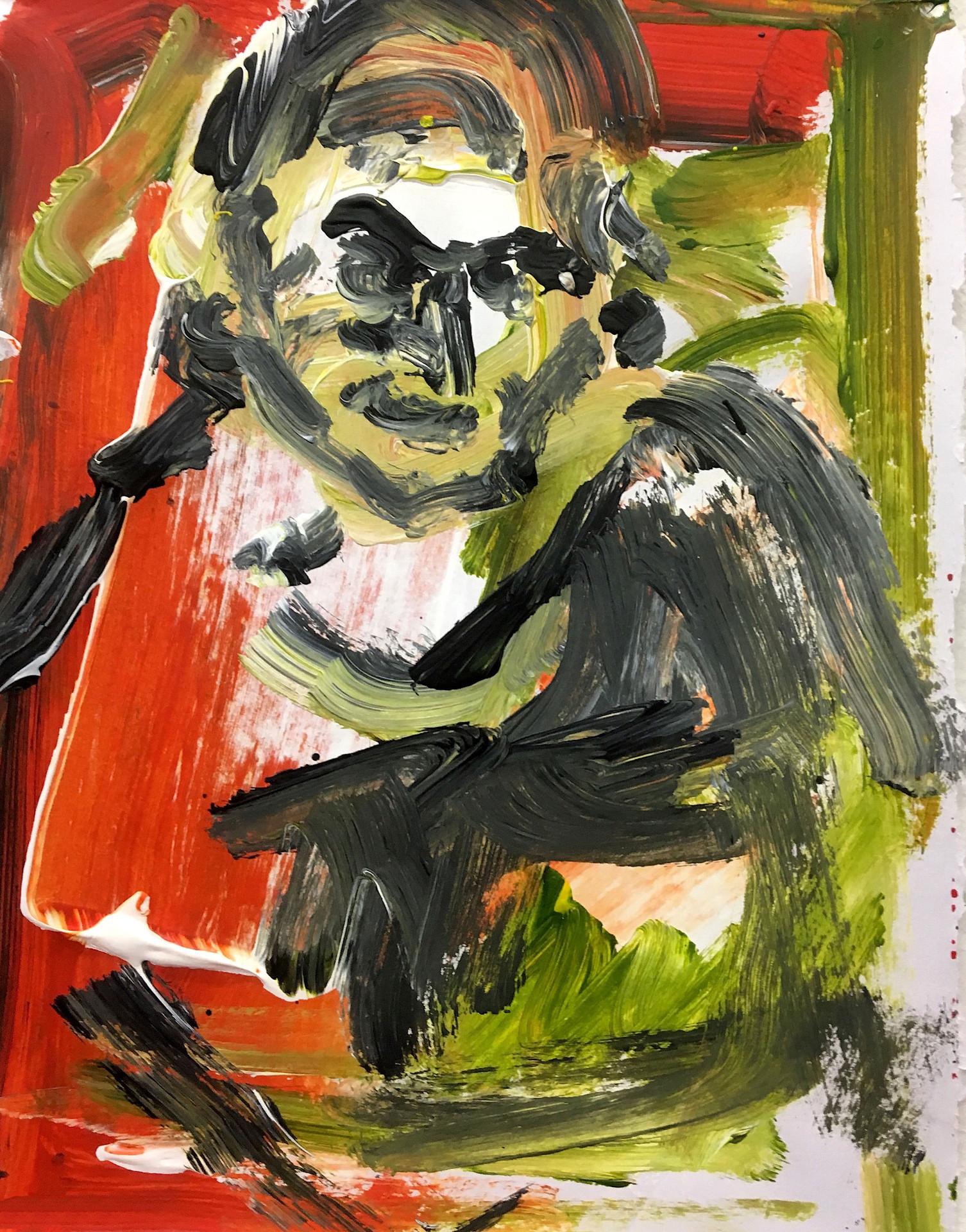 Bird Face, 2017, acrylic on paper, 20 x 30 cm