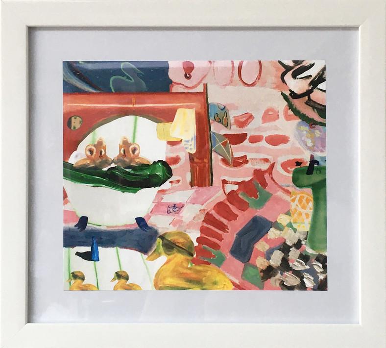 Chop and Shop Medley II, A Bathtub Scene Edition of 10, digital collage on matt photographic paper 20 x 17 cm (29 x 26.5 cm framed)