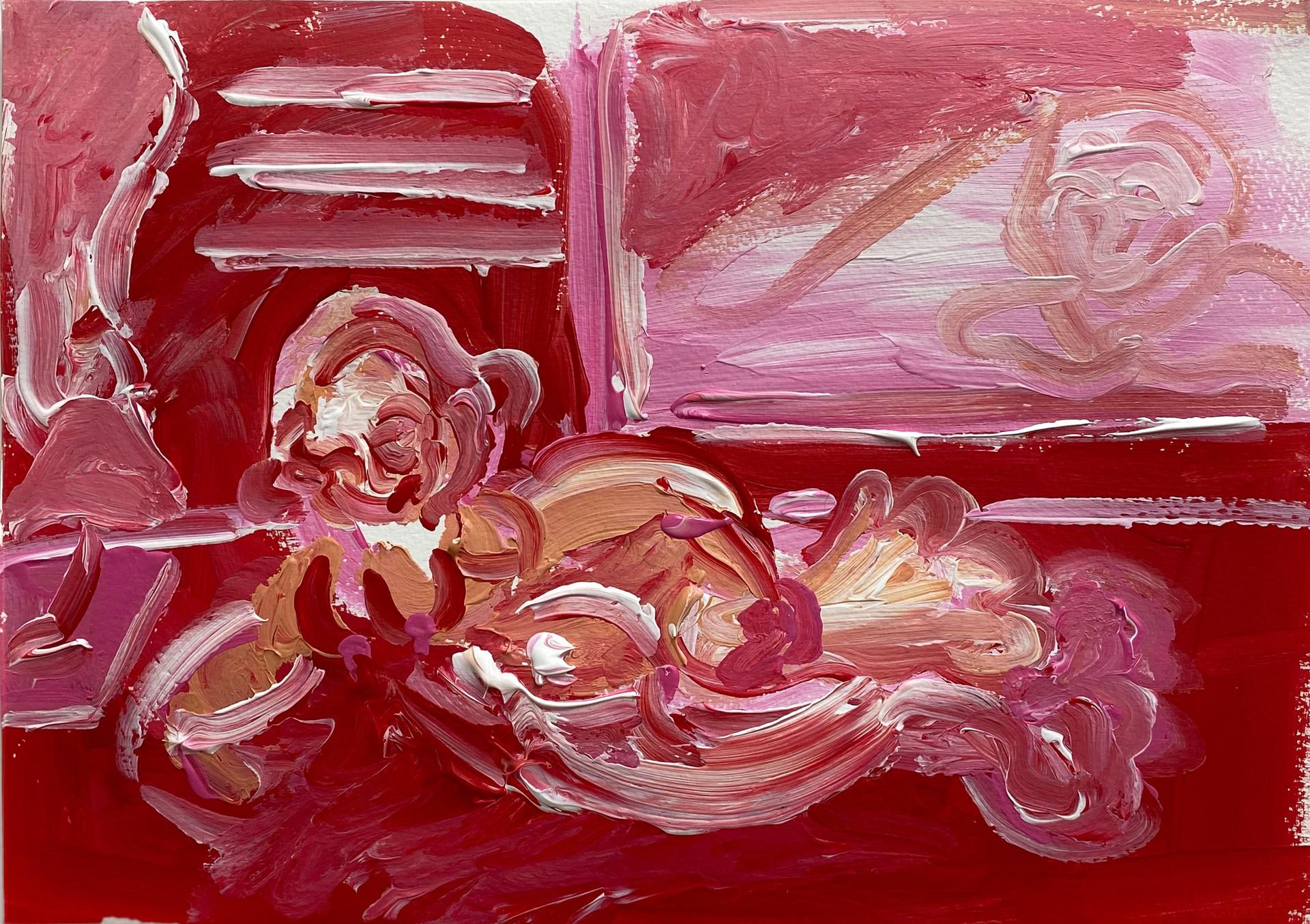 Rouge, 2020, acrylic on fine art paper, 29.5 x 21 cm