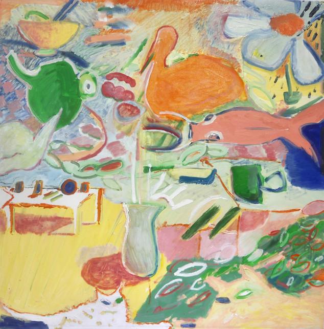 Daydream, oil on canvas, 100 x 100 cm