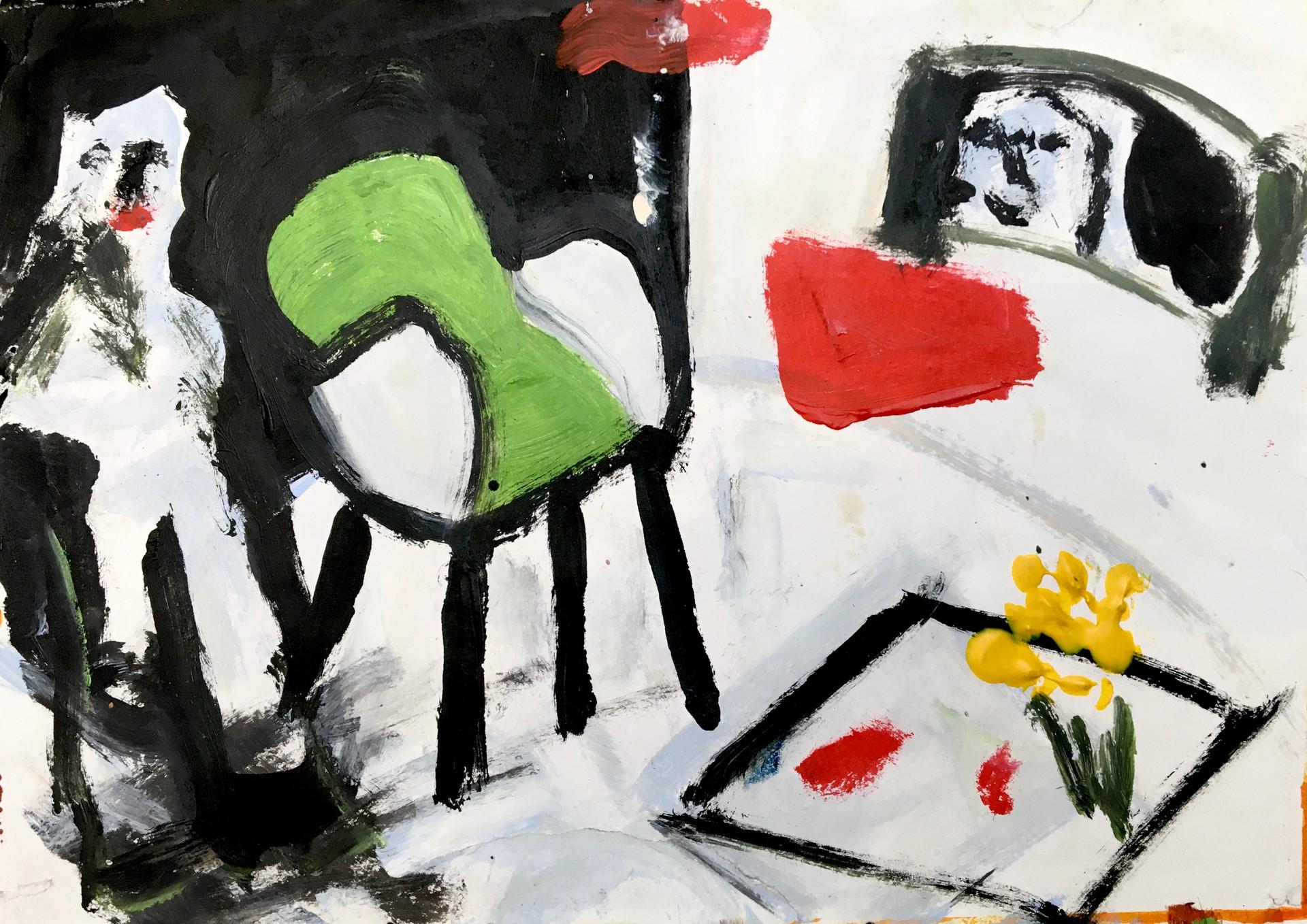 Peekaboo, 2017, oil and acrylic on canvas, 29 x 20.5 cm