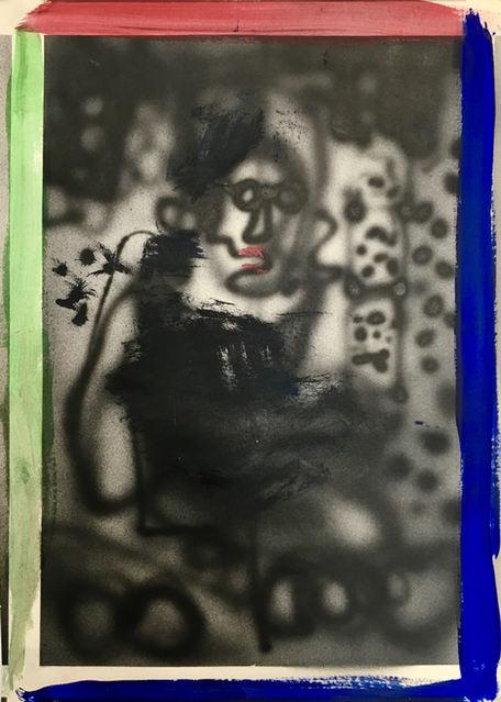 Boy Meets Girl, 2019, acrylic on paper 41 x 30 cm