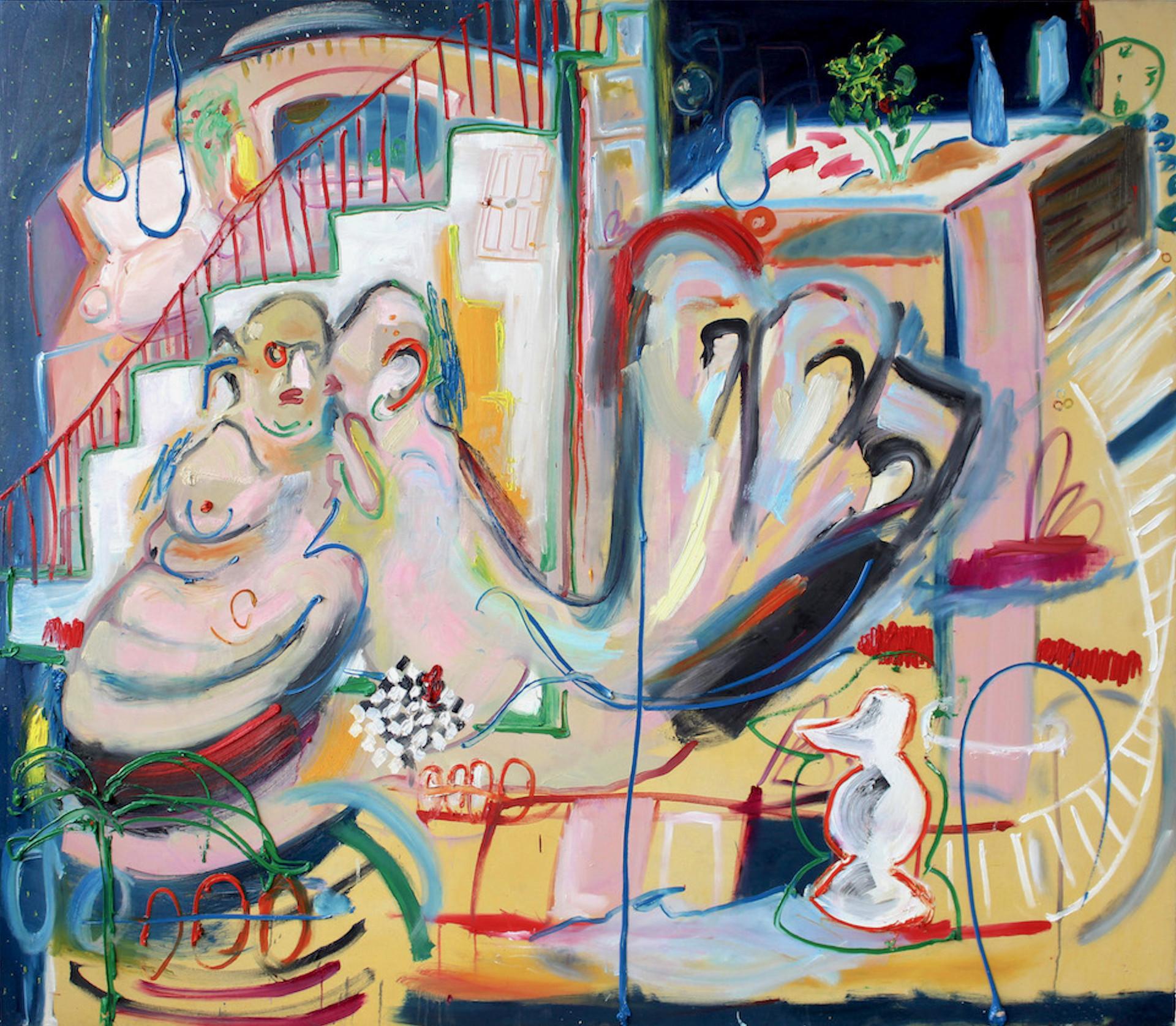 Takeaway?, 2018, oil on canvas, 238 x 209 cm