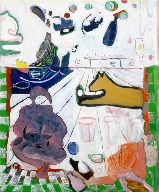 Ganbei, oil on canvas, 100 x 120 cm