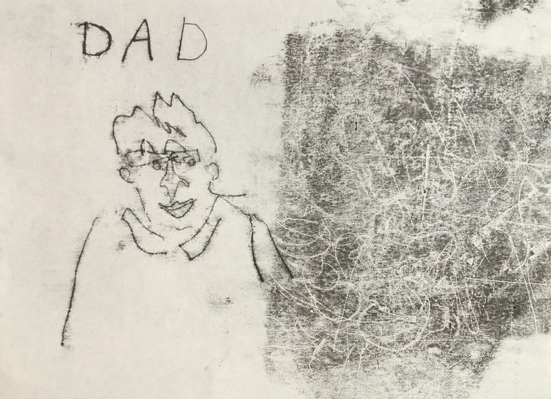 DAD, mono print on fine art paper, 29.5 x 21 cm