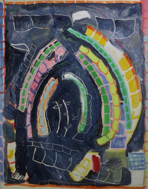 Bamboozled!, oil on canvas, 70 x 90 cm