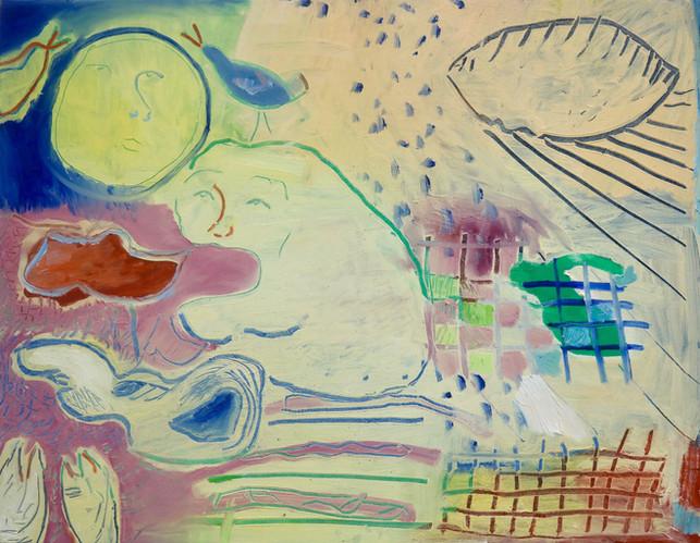 Crosswords, oil on canvas, 90 x 70 cm