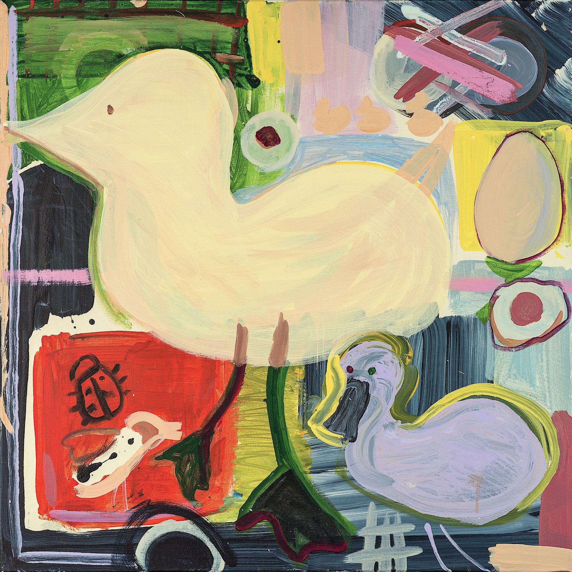 Bird Sounds, 2019, acrylic on canvas, 60 x 60 cm