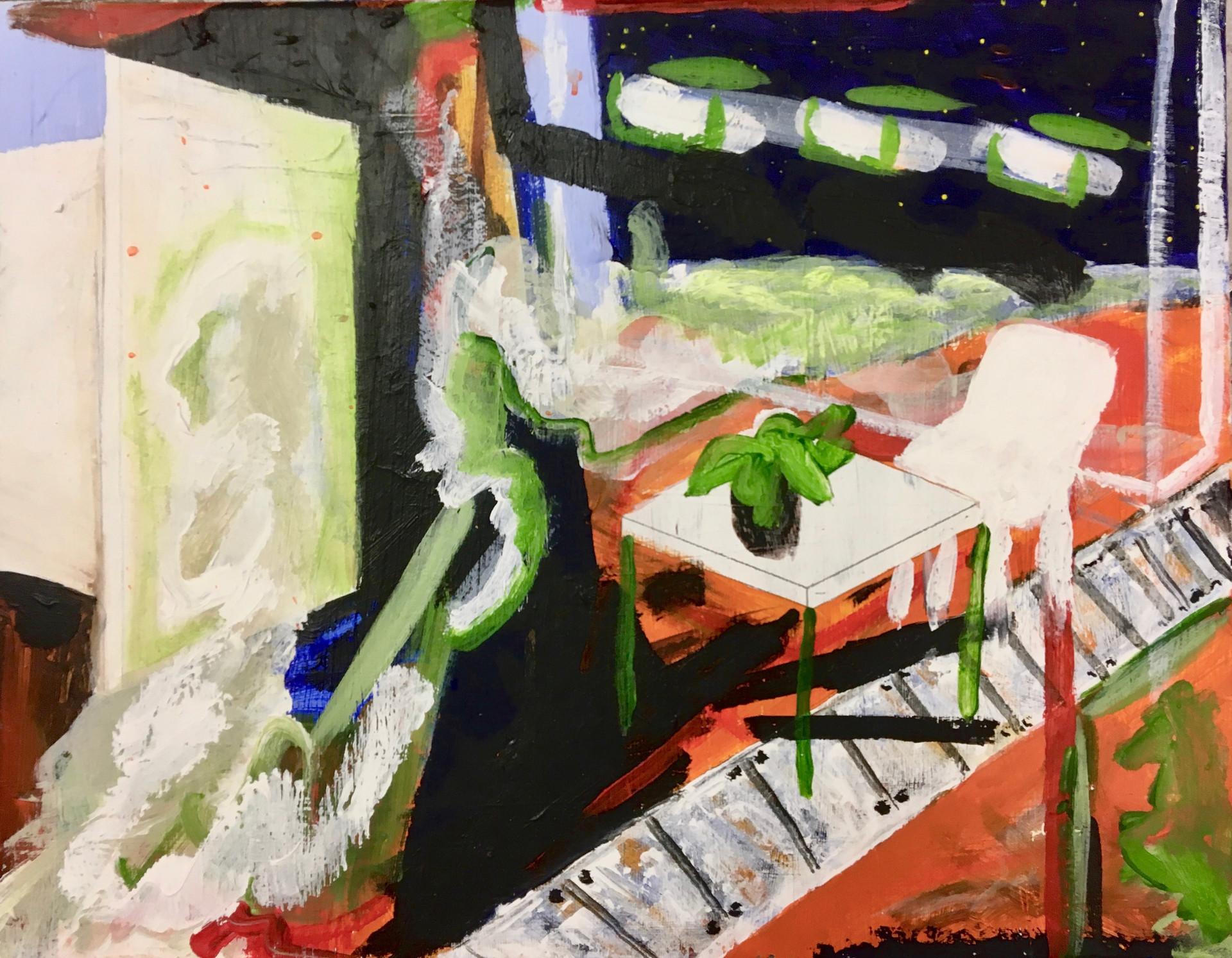 Psychological Space, 2017, acrylic on canvas, 46 x 36 cm