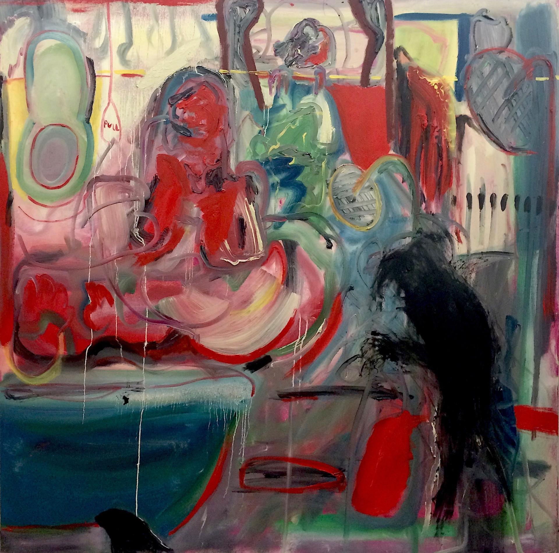 Spring Clean, 2018, oil on canvas, 148 x 148 cm