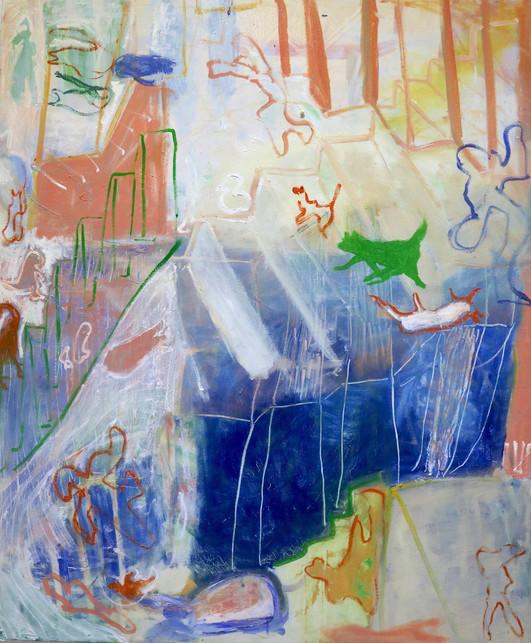 Up, Down, Ascend, Descend, oil on canvas, 120 x 100 cm