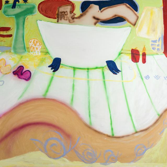 Snail Trail, acrylic on canvas, 148 x 148 cm