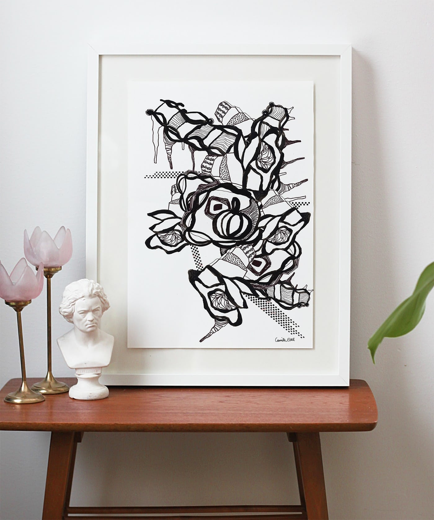 elt - artprint blommor och broar