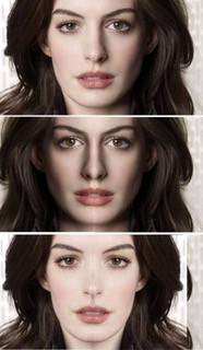 Симметрия лица, актриса, известная актриса