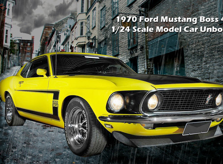 1970 Ford Mustang Boss 429 1/24 Scale Model Car Unboxing Compatible Motormax Yellow