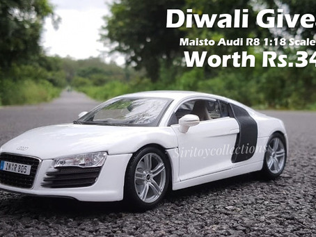 Diwali Giveaway Maisto Audi R8 1:18 Scale Model Car of Worth Rs.3450 | Only India