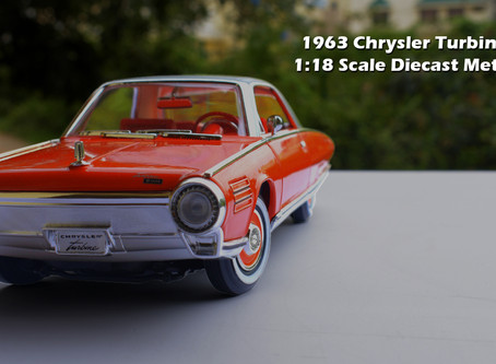 1963 Chrysler Turbine Car 1:18 Scale Unboxing