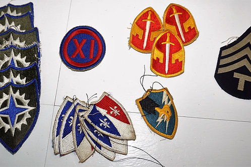 WWII Uniform Patches