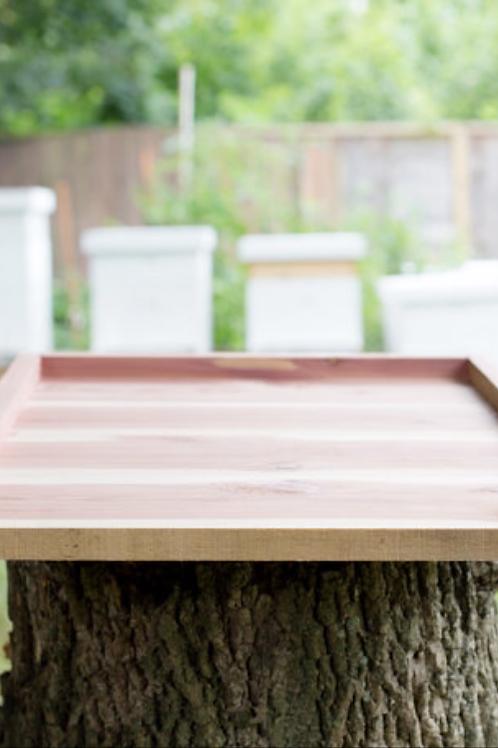Cedar bottom board