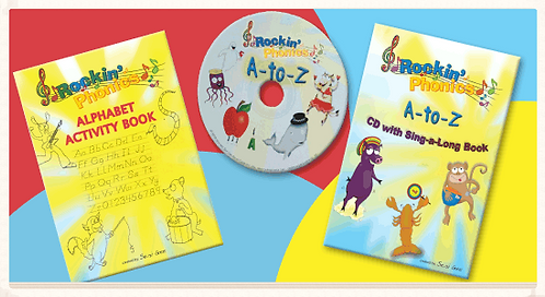 Rockin' Phonics CD + Song book + Activity book
