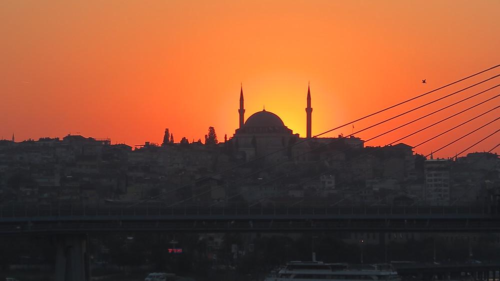 Istanbul Sundown über der Stadt