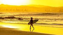Sunset Surfer - Snapper Rocks, Australia