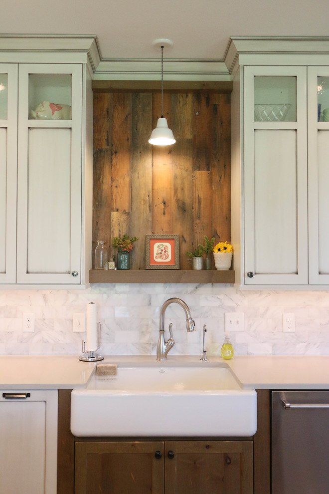 custom modern farmhouse kitchen white cabinets