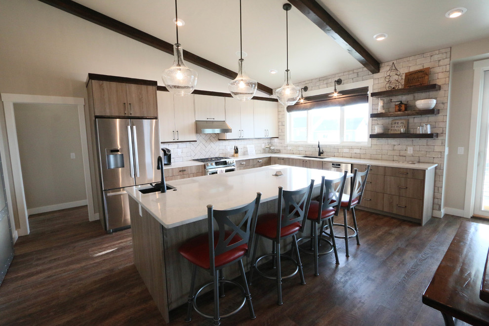 custom farmhouse kitchen white cabinets
