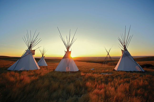 Teepee-in-the-sunset-Native-American-cul