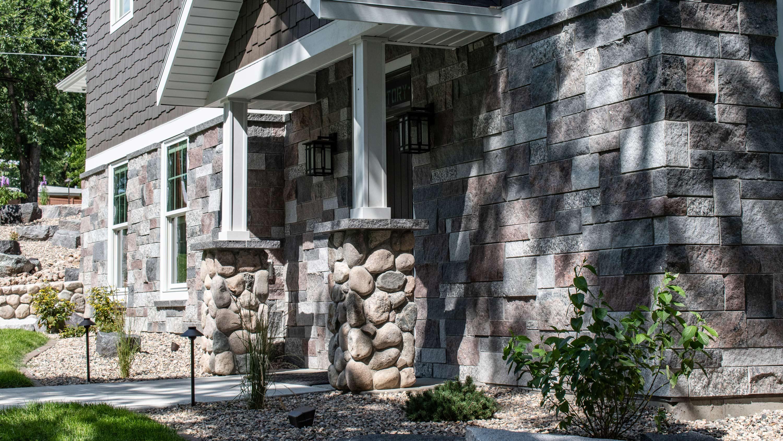 brick cobblestone exterior design